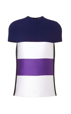 Wool Satin Stripe Top by Narciso Rodriguez for Preorder on Moda Operandi