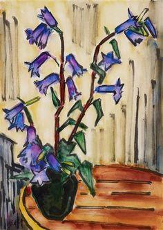 Blaue Glockenblumen - Karl Schmidt-Rottluff