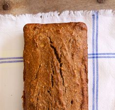 it's so simple, incredibly delicious and amazingly healthy. It's so perfectly sweet … Gluten Free Banana Bread, Healthy Banana Bread, Healthy Cake, Banana Bread Recipes, Healthy Sweets, Healthy Baking, Healthy Food, Gluten Free Desserts, Dessert Recipes
