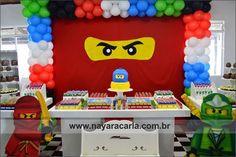Fiesta infantil The Lego Ninjago Lego Ninjago, Ninjago Party, Ninja Birthday Parties, Birthday Party Decorations, 5th Birthday, Festa Ninja Go, Partys, Kindergarten, Party Ideas