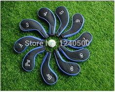 Free Shipping 10 Pcs/bag Golf Club Iron Covers Headcovers Protector For Golf Sport