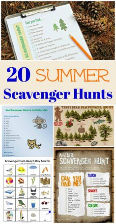 20 Summer Scavenger Hunt Ideas - games for road trips, the beach & outdoor fun this summer!