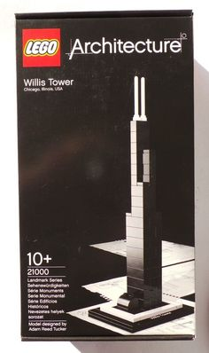 Introducing the LEGO Architecture Landmark series of real-world construction models! Build and display the Willis Tower! Replica of real-world architectural landmark Willis Tower! Adam Reed, Lego Architecture, Lego Building, Willis Tower, Seal, Display, Hobbies, Construction, Models