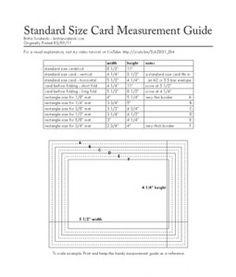 Card Sizes and Measurements Guide