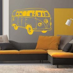VW Camper Van Wall Sticker available from Vunk Wall Stickers http://www.vunk.co.uk/retro-wall-stickers/vw-camper-van-wall-sticker.html