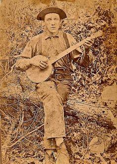 a real banjo playin' man from so very long ago.