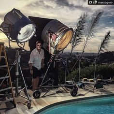 "Very cool BTS @marcogrob!! ----------- Repost @marcogrob: ""Man made sunset "" Los Angeles. I am scared to get the power bill☠ Love to be Photographer - love to be a Director . Great day with a great team!! #lovemyjob #losangeles #photography #theypaymetodothis??? @redepic photo by @jameschristopherhenry Added by us: #behindthescenes #bts #onlocation #locationshoot #famousbtsmagazine #famousbtsmag"