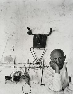 Pablo Picasso, Vallauris, France, 1954. Photo: Arnold Newman