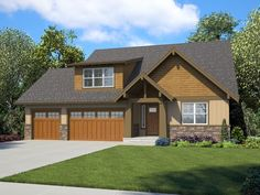 Plan Craftsman Ranch Home Plan with Bonus Room and Two Master Suites - This house plan combines Craftsman and ranch detailing and is perfect for those wanting a - 4 Bedroom House Plans, Ranch House Plans, Cottage House Plans, Best House Plans, Cottage Homes, House Floor Plans, Craftsman Ranch, Outdoor Living Rooms, Ranch Style Homes