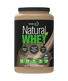 Bodylogix Natural Whey Protein Nutrition Shake, Decadent Chocolate, 1.85 Pound
