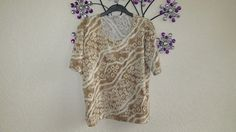 C M D Brown Glitter Top Size  X- Large     #CMD #Body #Casual