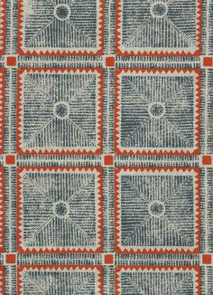 Textural block print on a Belgian linen and cotton blend Textiles, Textile Prints, Soapstone Carving, Navy Fabric, Modern Carpet, Gray Carpet, Ethnic Print, Ceiling Decor, Carpet Design