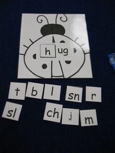 Kindergarten: word family practice