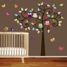 I would love to put something like this in the munchkins' room, if I owned the house and could shellac the heck out of it so it wouldn't meet the same sad fate as the cute monkey decals I put up a year or so ago.  (They were shredded by Munchkin #1.)