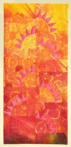 New Dawn – Terri Kirchner (saving this for the colors) other art quilts on Milwaukee Art Quilters at http://milwaukeeartquilters.wordpress.com/