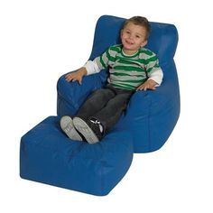Blue Beanbag chair!   http://www.brodart.ca/furnishings/childrens/chairs/_/The-Childrens-Factory-Two-Piece-Soft-Seating/?s=MToyNTY6MDo6Ojo6OjA6