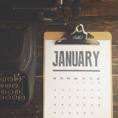 Free Download: Vintage-Inspired Printable Typographic Calendar for 2015 | Man Made DIY | Crafts for Men | Keywords: design, calendar, organization, office