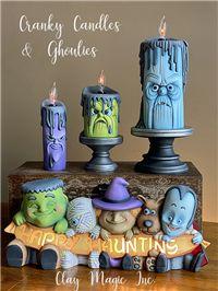 Halloween Wood Crafts, Halloween Clay, Homemade Halloween Decorations, Halloween Projects, Halloween Design, Halloween Party Decor, Moldes Halloween, Scary Dolls, Ceramic Bisque