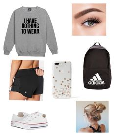 """Untitled #7"" by abihaley ❤ liked on Polyvore featuring interior, interiors, interior design, home, home decor, interior decorating, lululemon, Converse, Morphe and adidas"