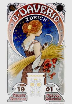 Illustration by Alphonse Mucha, 1901, posted on Flickr by mpt.1607
