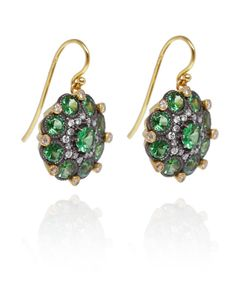 Arman Sarkisyan Gold Tsavorite and Diamond Earrings
