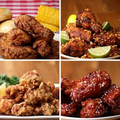 Featuring Japanese Popcorn Chicken (Karaage), Brazilian Chicken Wings (Frango À Passarinho), fried chicken Buttermilk-fried Chicken and Spicy Korean Chicken Buttermilk Fried Chicken, Fried Chicken Recipes, Tasty Videos, Food Videos, Good Food, Yummy Food, Cooking Recipes, Healthy Recipes, Cheap Recipes