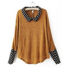 Indressme | Acrylic polka dot long sleeve pullover style 12-0119601 only $42.00 .   So cute