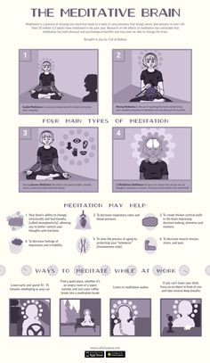 The Meditative Brain #infographic. #health #meditation