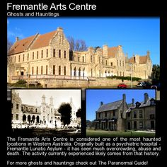 Fremantle Arts Centre. This building was once the Convict Establishment Fremantle Lunatic Asylum and Invalid Depot. It has a bit of dark history attached and a haunting or two. Check it out: http://www.theparanormalguide.com/blog/fremantle-arts-centre