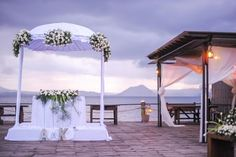 Lakeside Reception  Kim and Almi's wedding reception was held by the lake in Batangas.  Photo By Foreveryday Photography