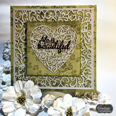 Couture Creations: Life is Beautiful by Tina Connolly | #couturecreationsaus #cards #decorativedies #doilydies