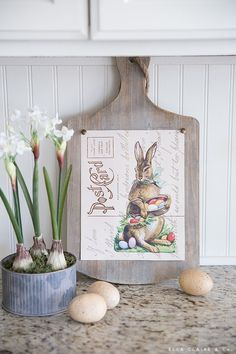 Easter Art, Easter Crafts, Easter Bunny, Easter Decor, Decorating For Easter, Tuscan Decorating, Easter Ideas, Happy Easter, Vintage Farmhouse
