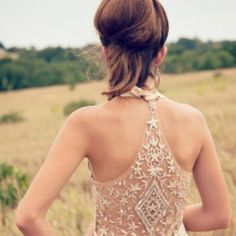 Back magic!  A dress back so gorgeous that you have to moonwalk down the aisle