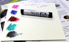 Also available, DS watercolor pigment sticks