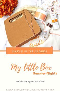 Diesmal ist die Box in Kooperation mit Nat&Nin entstanden und enthält eine hübsche Sommertasche! #mylittlebox #unboxing Beauty Box, Little Boxes, Beauty Review, Summer Nights, Tricks, German, Make Up, Castle, Clouds
