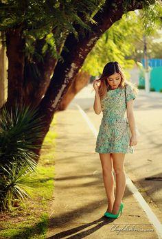 Blog da Lê-Moda e Estílo: No look green dress malacco