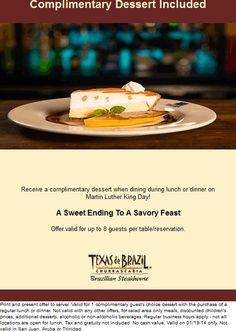 photo regarding Texas De Brazil Printable Coupon identified as 14 Ideal Specials illustrations or photos within 2016 Coupon codes, Printable coupon codes