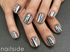 black and white tribal by nailside