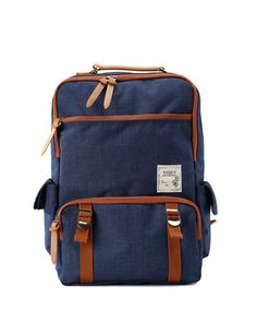 412282a4106 Cotton Square Backpack Black by BagDoRi on Etsy Denim Backpack