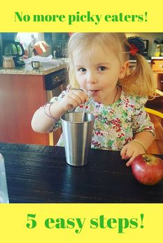 If you're tired of fighting with your kids about food but don't know what to do, try my 5 easy steps to get your kids eating better today!