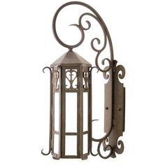 2nd Ave Design Caprice 1 Light Outdoor Wall Lantern Finish: Coffee Bean, Shade Type: Tea Stained