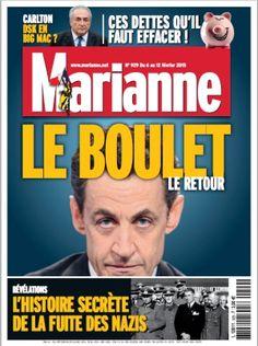 Marianne du 6 au 12 février 2015 : Sarko Le Boulet :)