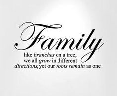 Great quote to add to a Family Tree Wall