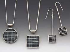199. claudia A. designs are handcrafted sterling silver jewelry, inspired by architecture,  geometrical shapes and unusual color and material combinations. www.claudiaAdesigns.com
