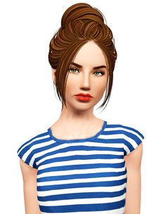 Skysims 224 harstyle retextured by Pocket for Sims 3 - Sims Hairs - http://simshairs.com/skysims-224-harstyle-retextured-by-pocket/