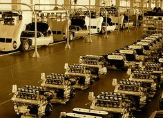1966 Lamborghini Miura Assembly Line.  Can you imagine there ever was a production line for these works of art?