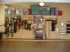 monkey bar storage Garage Organization Systems, Organisation Hacks, Home Organization, Organizing Ideas, Shed Storage, Garage Storage, Monkey Bar Storage, Clean Garage, Clutter Solutions
