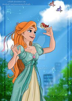 Giselle by rebenke on DeviantArt Disney Artwork, Disney Fan Art, Disney Drawings, Disney Love, Disney Magic, Enchanted Movie, Giselle Enchanted, Disney Enchanted, Disney Pixar