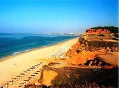 Golden sands of Praia de Falesia near Faro, Portugal