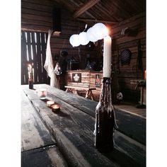 Musiken är på och baren är öppnad! 💀😎🎶🎸😃 #tröskloge #vårloge #bar #hemmabar #rustikbar